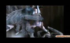 Anime 3D com ninfeta fodida brutalmente por monstros aranhas