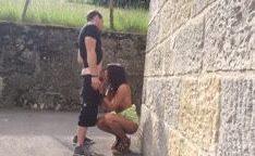 Flagra real de casal transando na rua caiu na net